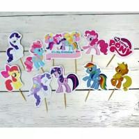 toper topper hiasan kue ulang tahun karakter kuda poni my little pony