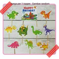 toper topper hiasan cup cake kue ulang tahun karakter dinosaurus