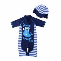 Baju Renang Anak / Kids Swimwear - Motif Paus - 2-3 tahun, Biru