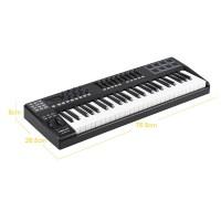 Panda49 4 9-kunci USB MIDI Keyboard Controller 8 Drum dengan Kabel USB