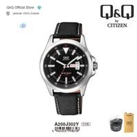 Q&Q QnQ QQ Original Jam Tangan Pria Analog Kulit - A200 A200J
