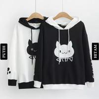 MFcollection Sweater Hoodie Kombinasi HARAJUKU CAT