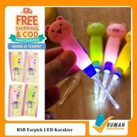 RSB Earpick LED KARAKTER/Alat Pembersih Telinga/Korek Kuping Led/Korek