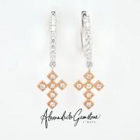 Anting Berlian Salib 3 - AG Jewellery