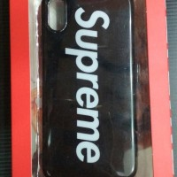 CASE / CASING SUPREME SOFTCASE GLOSSY IPHONE 10 / X / TEN BLACK