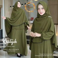 Setelan Gamis Muslimah + Jilbab (Khadijah Syari)