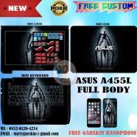 Garskin Laptop Full Body Asus A455 Series Motif Spiderman Black -Bisa