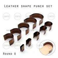 Round U Leather shape punch set - pisau pon - leather tools