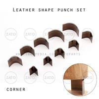 Corner Leather shape punch set - pisau pon - leather tools