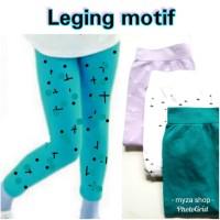 Legging anak perempuan leging celana panjang motif