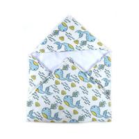 LittleFresco - Selimut Topi Bayi Anak Whale Cream