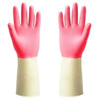 Sarung tangan karet, LATEKS ASLI ,merah POTKES 32cm