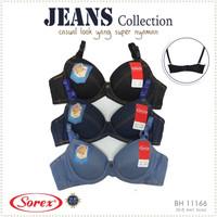 Pakaian Dalam Wanita Bra / BH Kawat Motif Jeans Sorex 11166 - aneka