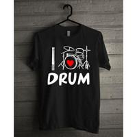 Kaos Oblong Distro I Love Drum