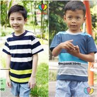 Kaos Salur Anak uk 8-10 Tahun / Kaos Salur Atasan Anak Tanggung Murah