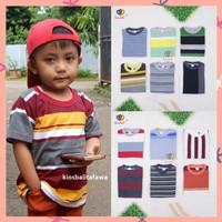 Kaos Salur uk 3-5 Tahun / Anak Laki Baju Adem Lengan Pendek Murah Adem