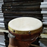 Alat Musik Qosidah Hadroh - Rebana Ecrek Ecrek - Bahan Kulit Kambing.
