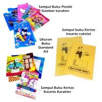 Sampul buku tulis anak perlengkapan sekolah