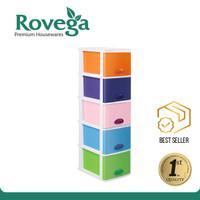 Rovega Kido Lemari Plastik Premium 5 Susun Rainbow