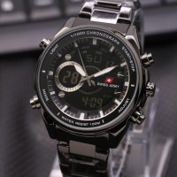 Jam Tangan Pria Swiss Army Dual Time New Limited
