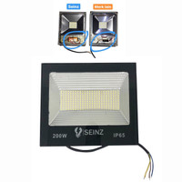 Lampu Sorot Tipis LED 200w Outdoor Tembak | Flood Light Alumunium