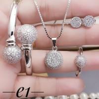 Titanium set perhiasan lapis emas 24k 2412a