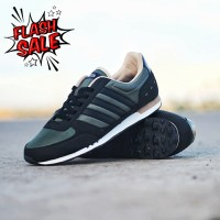 Sepatu adidas neo city racer olive green original