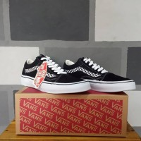 Vans Old Skool Side Stripe V Black White