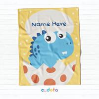[Custom Baby Blanket] Cudeta Selimut Bayi - Baby Dinosaur