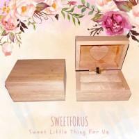 Rustic Natural Ring Box Couple Wedding Kotak Cincin Rustic Pasangan Se