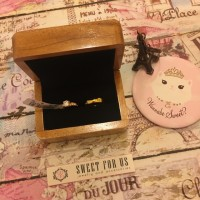 Brown Rustic Wood Ring Box Velvet Couple Kotak Cincin Kayu Netral Cokl