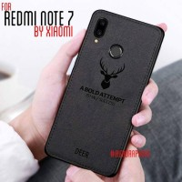 Xiaomi Redmi Note 7 Soft Case DEER Cloth Silicone Protective Back Case