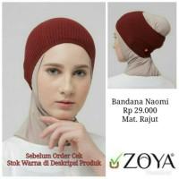 Tusong Hijab Jilbab Ciput Rajut BANDANA NAOMI ZOYA Original