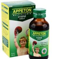 Appeton Lysine syrup 60ml vitamin penambah nafsu makan anak