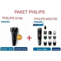 PHILIPS Paket Shaver S106 + MultiGroom MG5730 11in1