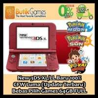 Best Pirice!!! New 3Ds Xl / Ll Nintendo 3Dsxl Cfw Permanent 64 Gb