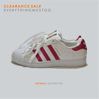 ADIDAS SUPERSTAR - WHITE/PINK - FACTORY MADE
