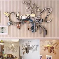 New - Wall Stiker Cermin Akrilik Dekorasi Hiasan Dinding Motif Cantik