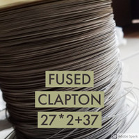 FUSED CLAPTON PER METER BASE NI80 MADE IN SWEDEN 27X2+37