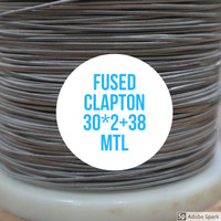FUSED CLAPTON PER METER BASE NI80 MADE IN SWEDEN 30*2+38 MTL