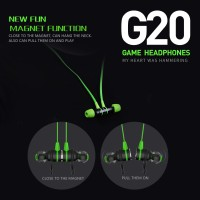 Headset Gaming Earphone Mic Magnet DOTA CSGO PUBG Plextone G20