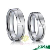 Cincin Kawin Palladium Cincin Couple Tunangan - Putih