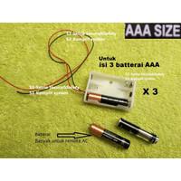 AAA Tempat Baterai Battery Holder Case Batere A3 Batre Kotak kabel DIY