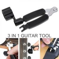 Guitar Tools 3 in 1 String Winder + Bridge Pins Puller + String Cutte
