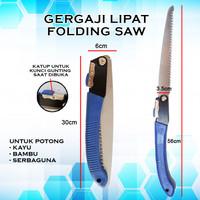 Gergaji Lipat/Folding SAW Potong Kayu/Bambu Portable Stainless Steel
