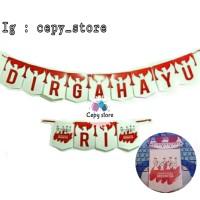 Banner DIRGAHAYU RI / Bunting Flag HUT RI MERAH PUTIH