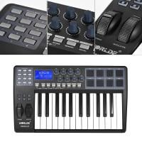 PANDA25 Keyboard 25-Key Ultra-portable dengan USB MIDI 8 Pad Kontroler