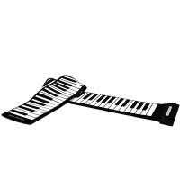 [Bayar Di Tempat]Keyboard Piano MIDI 88 Tombol Roll Up USB Silikon