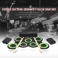 [Bayar Di Tempat]Drum Elektronik Digital Portable dengan 7 Drum Bahan