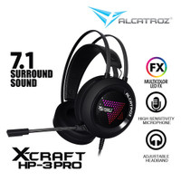 Alcatroz Gaming Headset 7.1 X-Craft HP-3 PRO